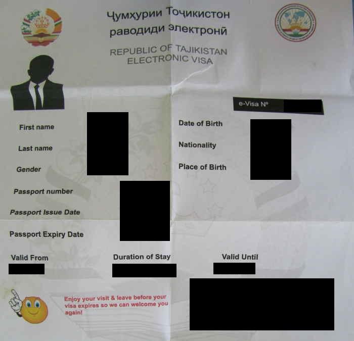 ויזה לטג'יקיסטן
